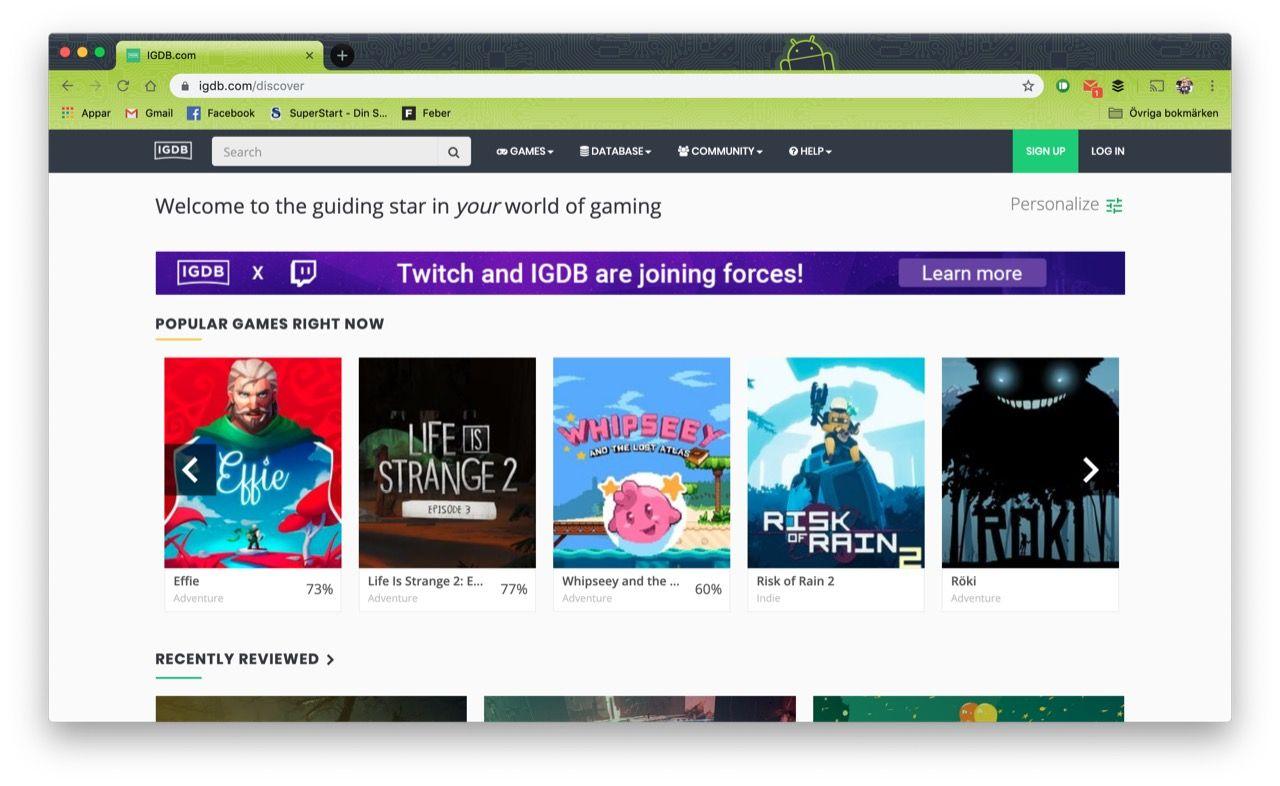 Twitch köper upp svenska IGDB