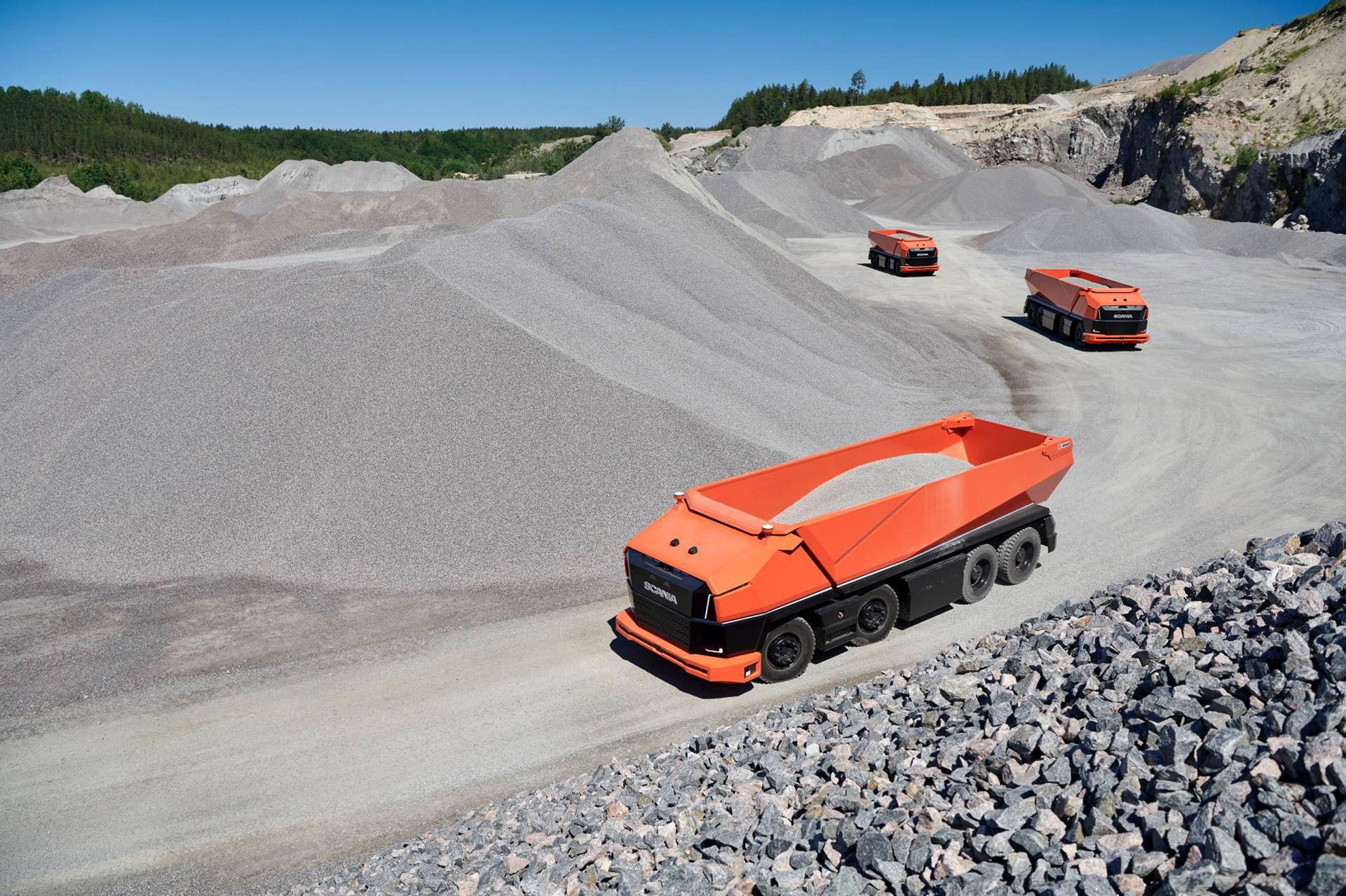 Scania visar självkörande lastbil utan hytt