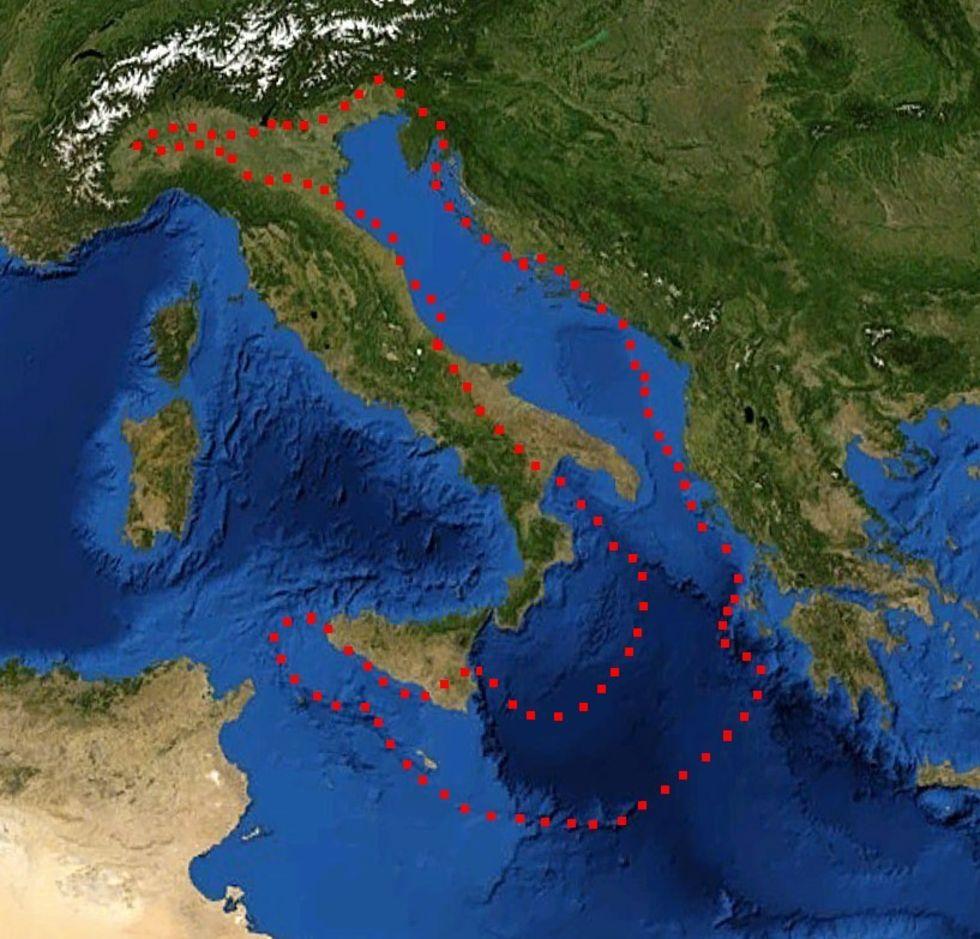 Forskare hittar okänd kontinent under Europa