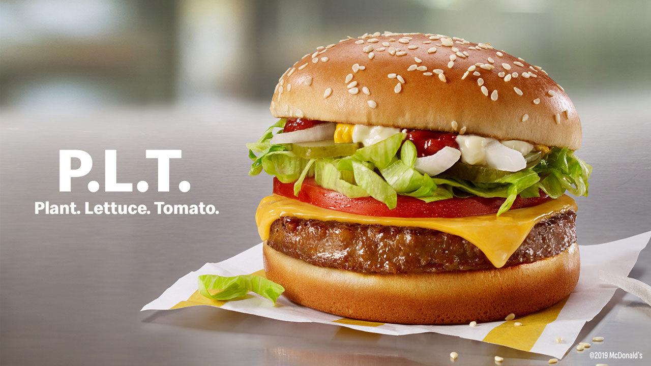 McDonalds testar köttlösa hamburgare