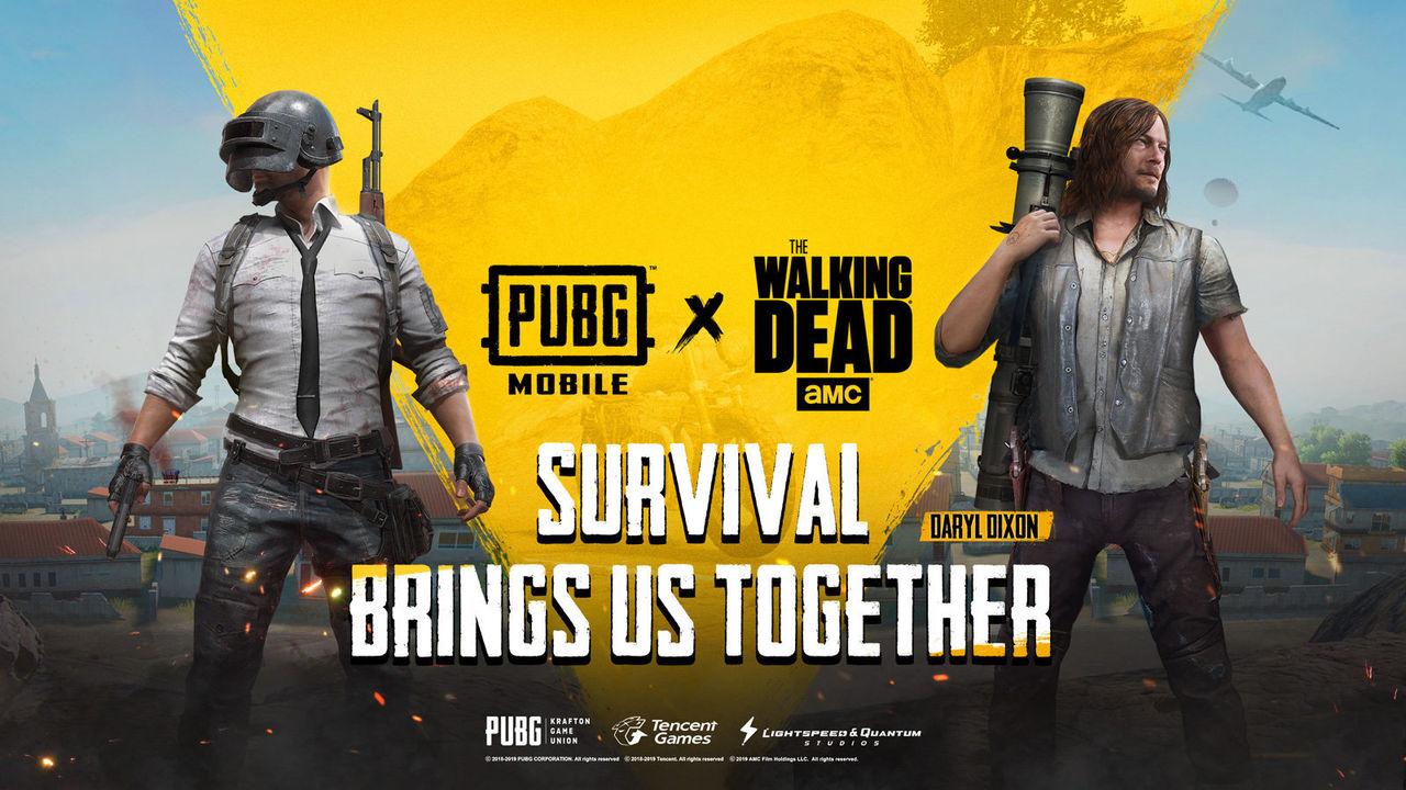PUBG Mobile goes Walking Dead