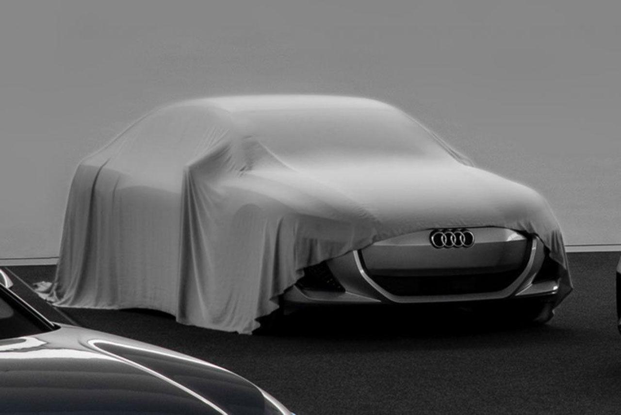 Vad är det för elbil Audi gömmer under detta skynke?