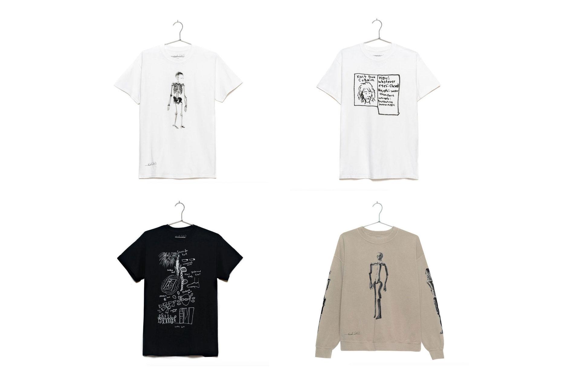 Kurt Cobains konst nu på t-shirts