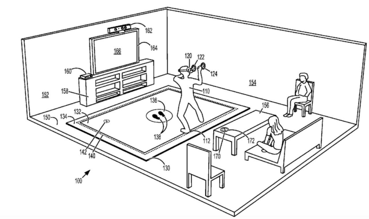 Microsoft söker patent för VR-matta