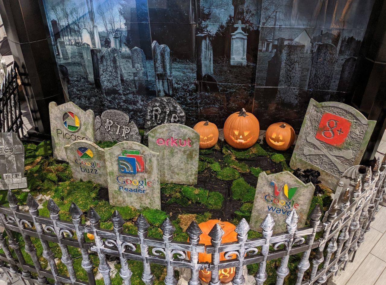 Google Seattle har byggt en kyrkogård