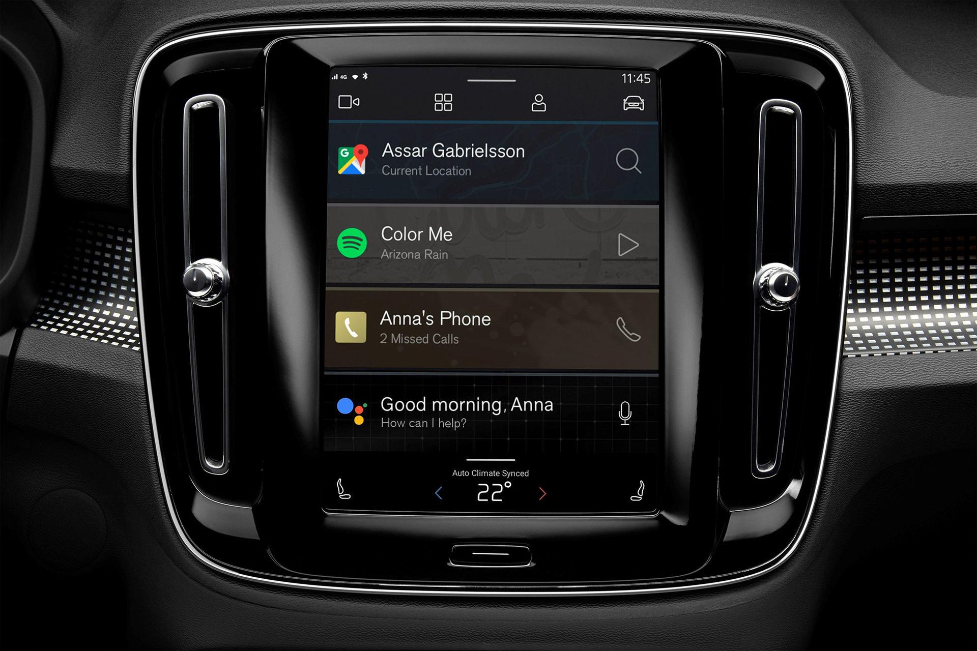 Eldrivna Volvo XC40 får helt nytt infotainmentsystem