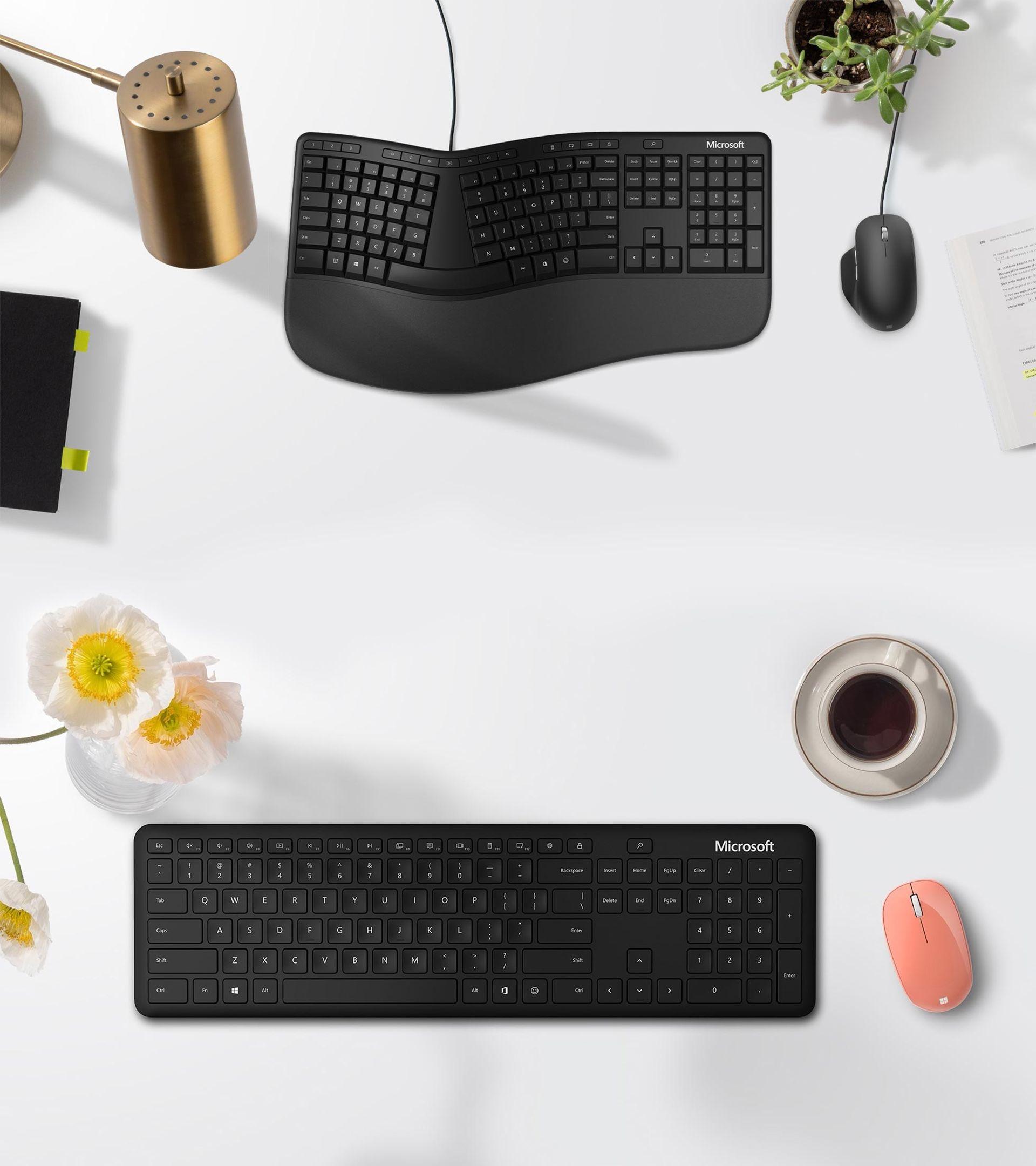 Microsofts nya tangentbord får Office- och emojiknapp