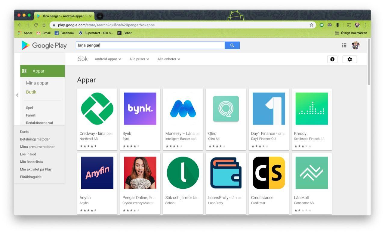 Google börjar förbjuda låne-appar med hög ränta