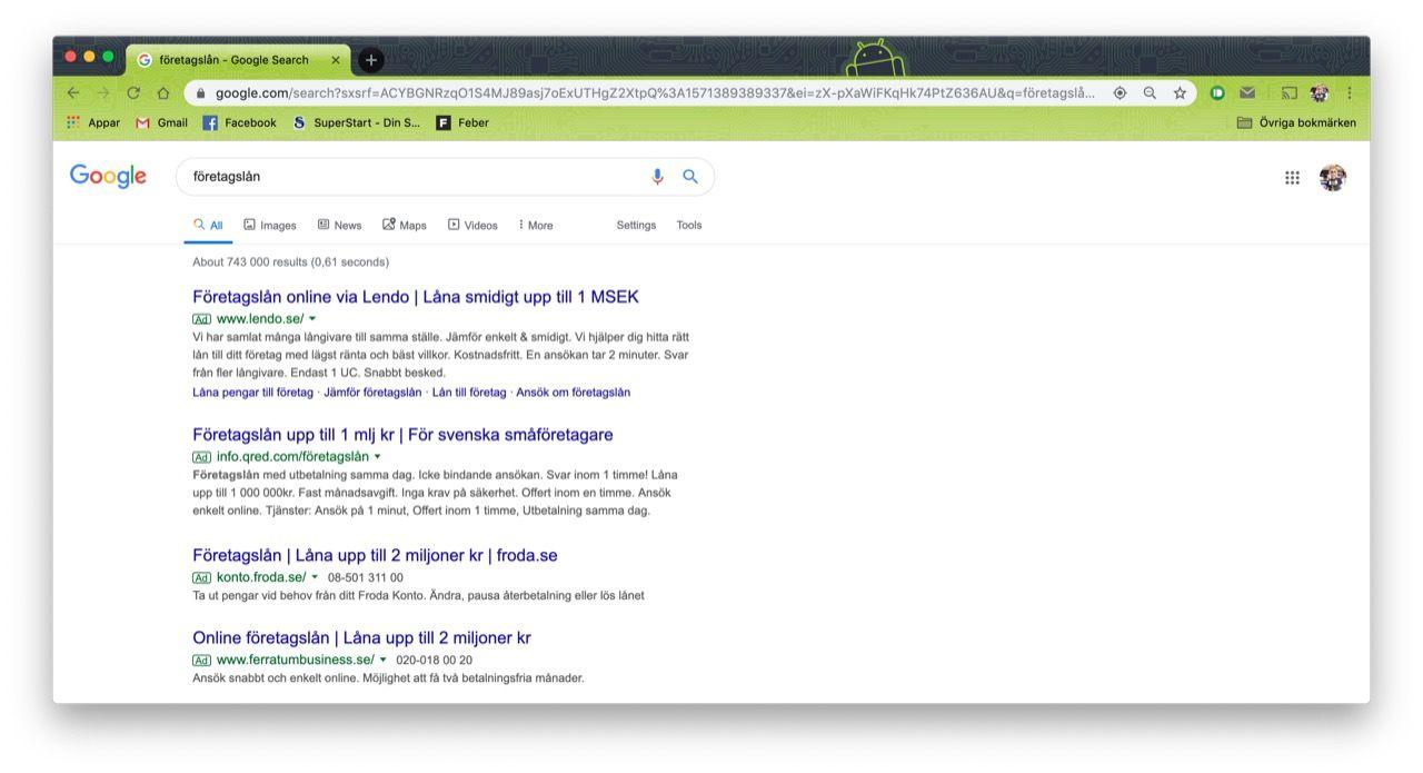 De här sökorden är dyrast att köpa som annons på Google