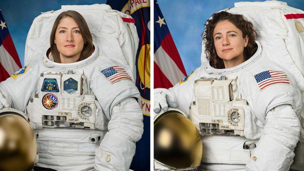 Första helkvinnliga rymdpromenaden är nu genomförd