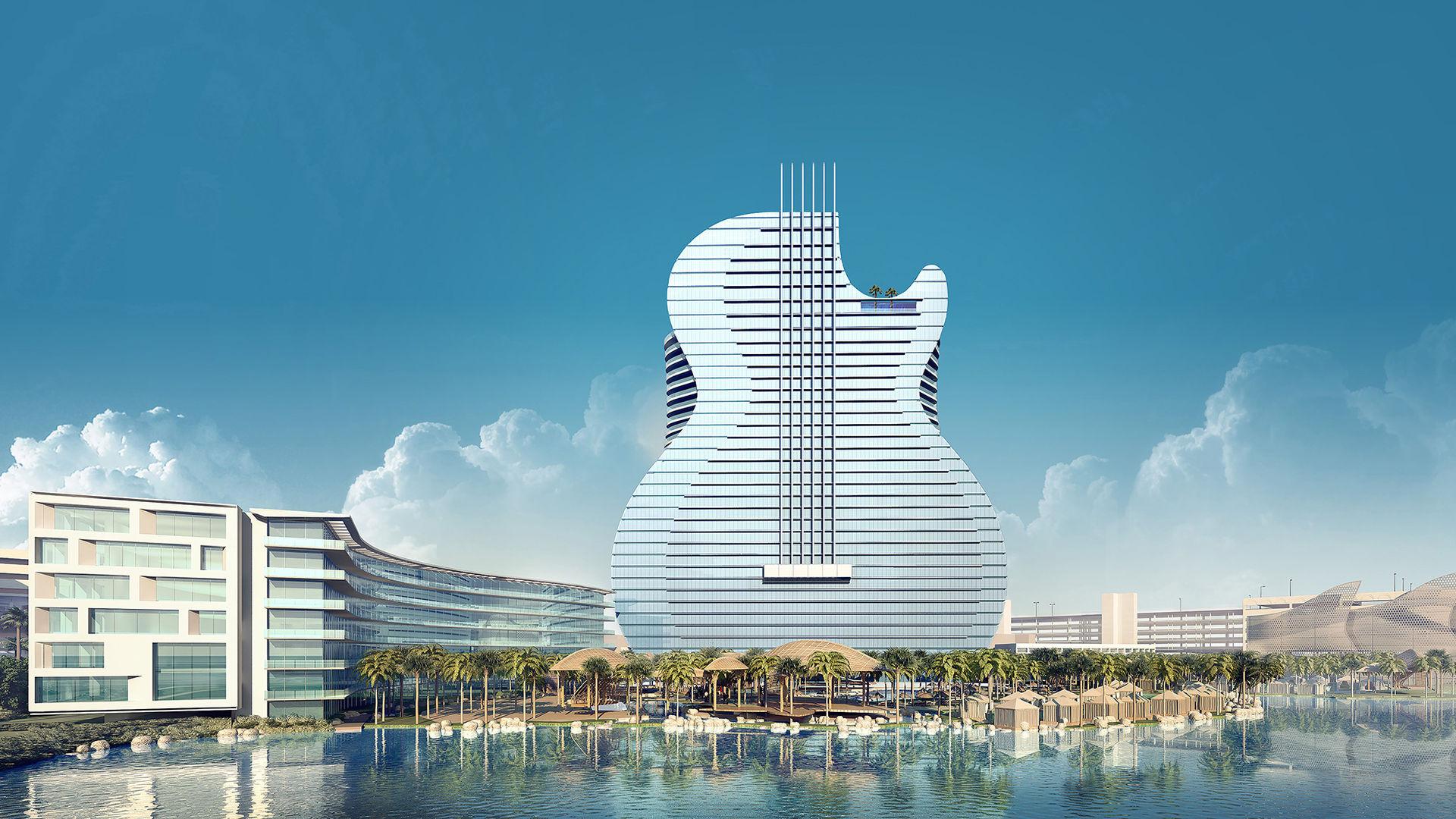 Hotellet som ser ut som en gitarr har öppnat