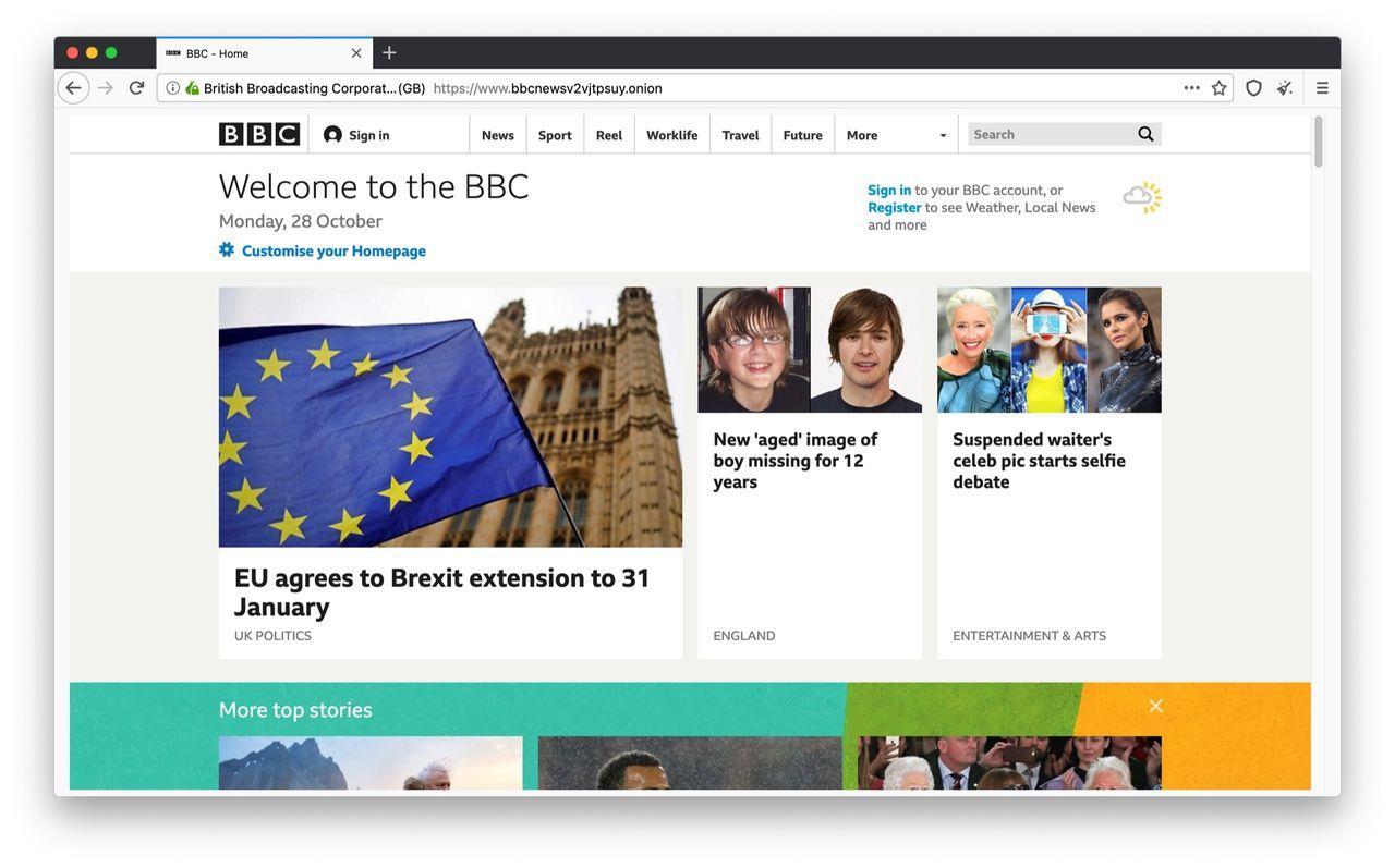 BBC lanserar nyhetstjänst på Dark Web
