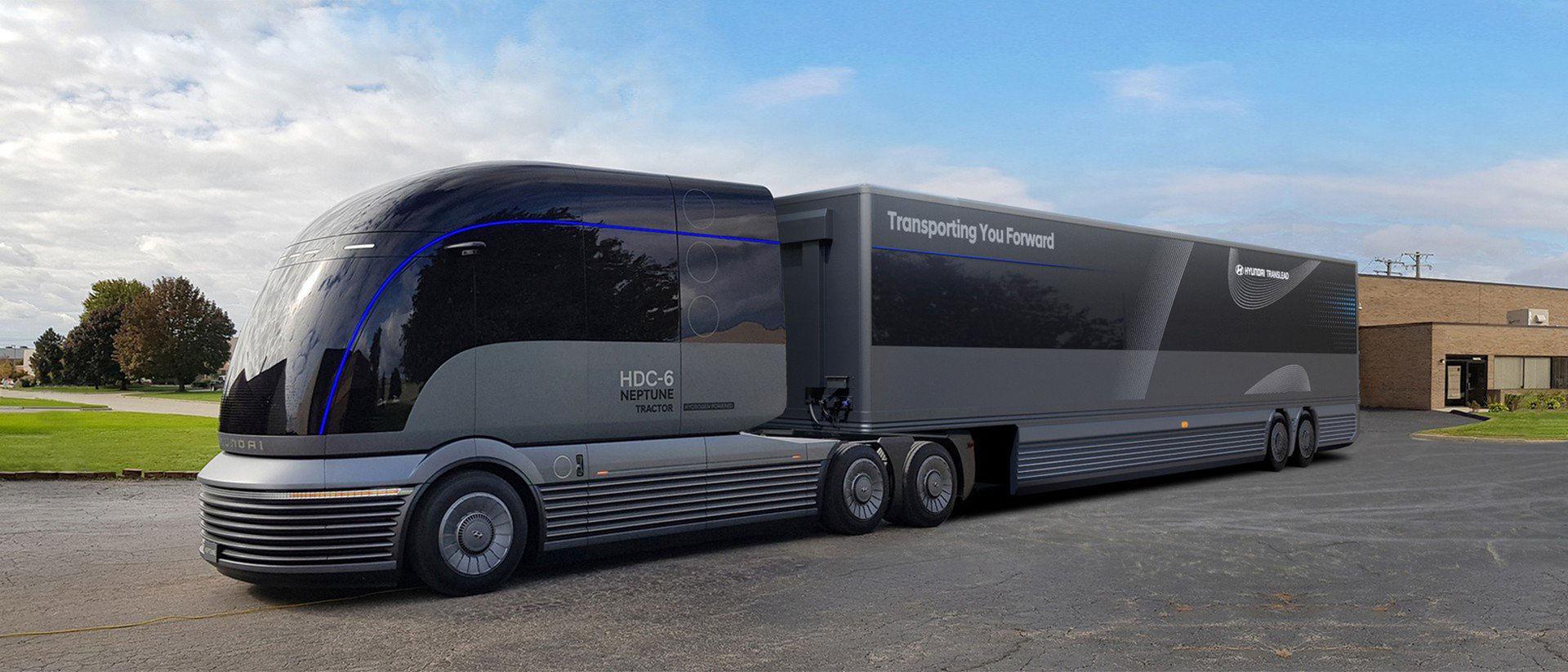 Här är Hyundais vätgasdrivna lastbil för framtiden