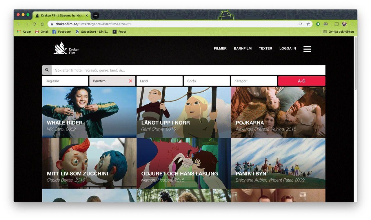 Streamingtjänsten Draken Film börjar satsa på barnfilm