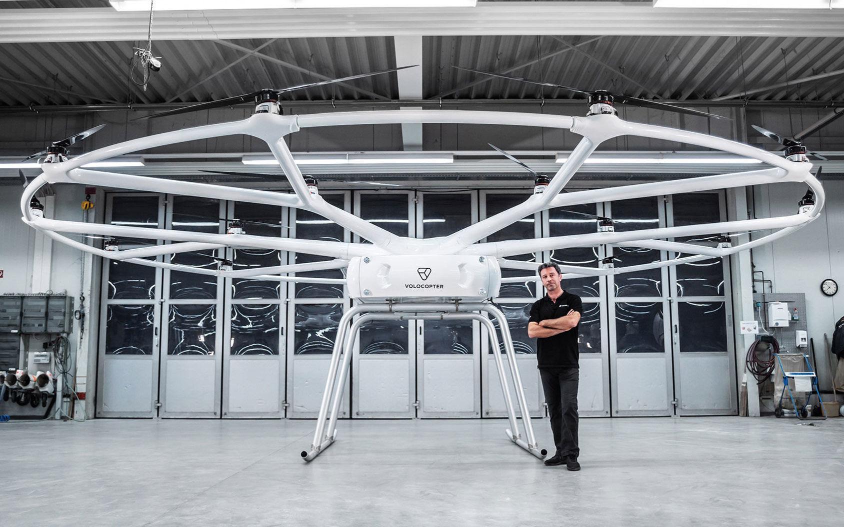 Volocopter visar upp VoloDrone