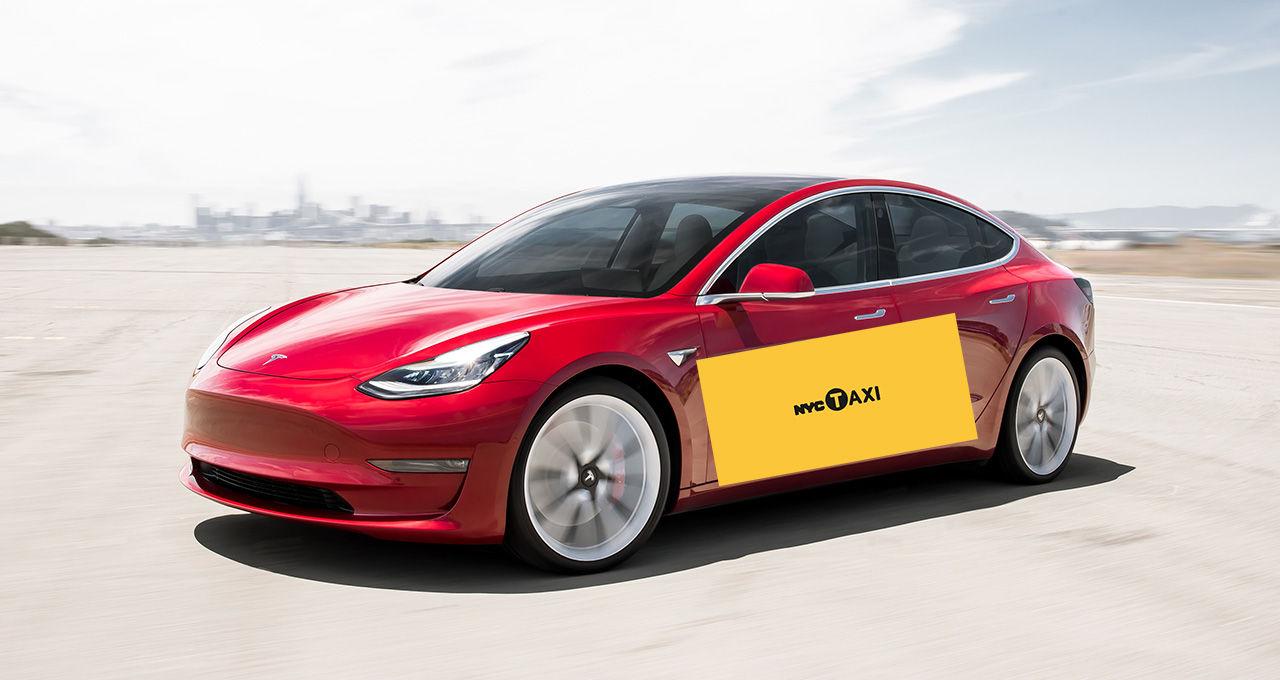 Tesla Model 3 blir första eldrivna taxi-bilen i New York