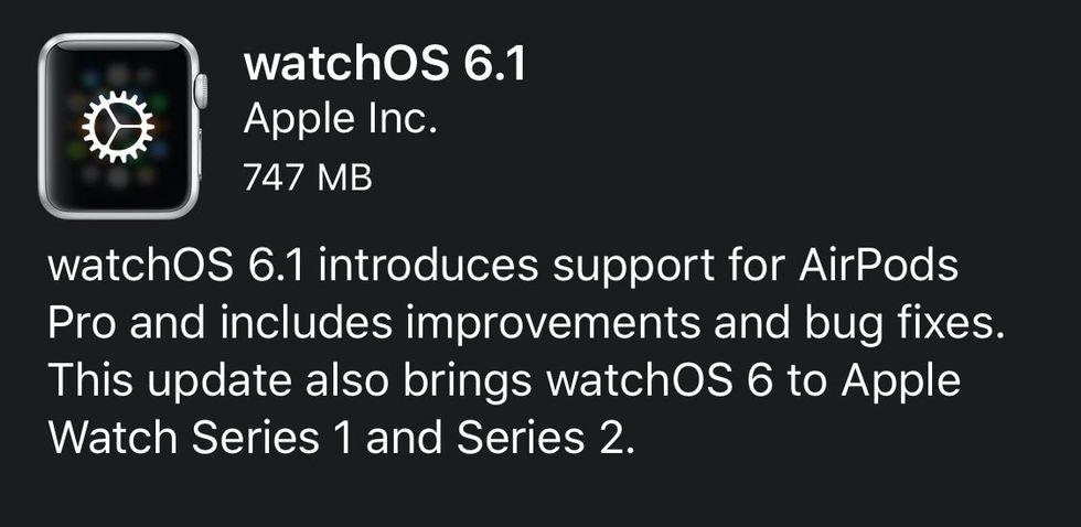Apple Watch series 1 och 2 har fått watchOS 6