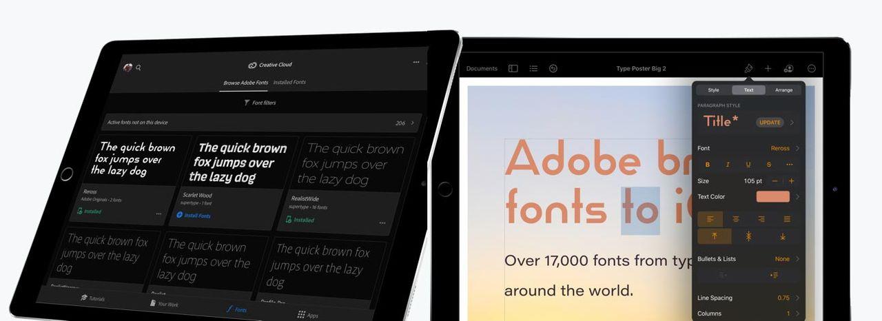Nu kommer alla Adobes typsnitt till iOS