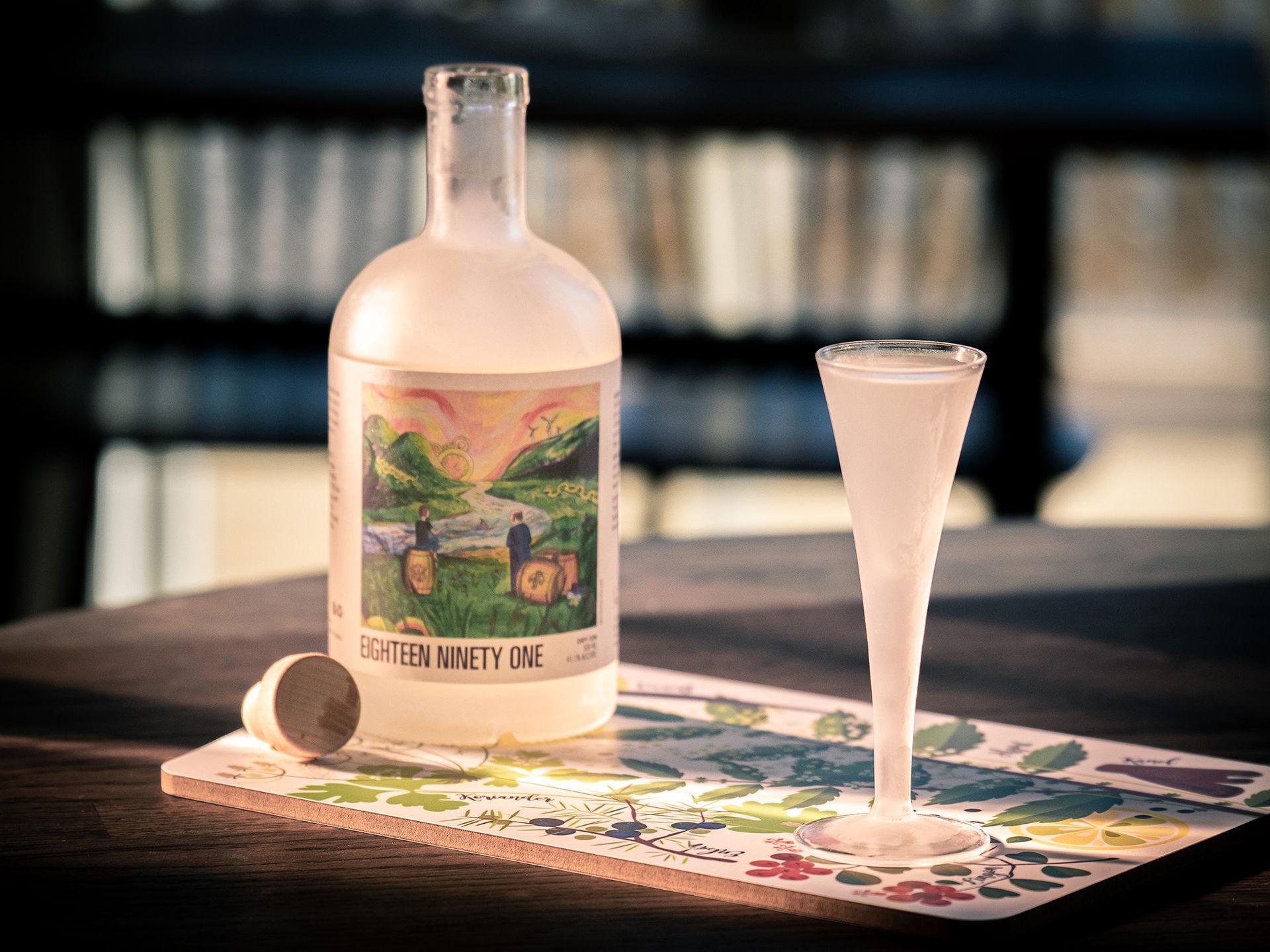 Ny gin lagrad på O.P. Anderson-fat