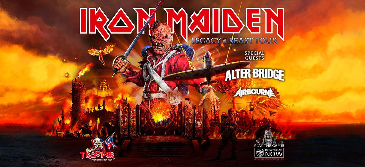 Iron Maiden lirar i Sverige nästa år