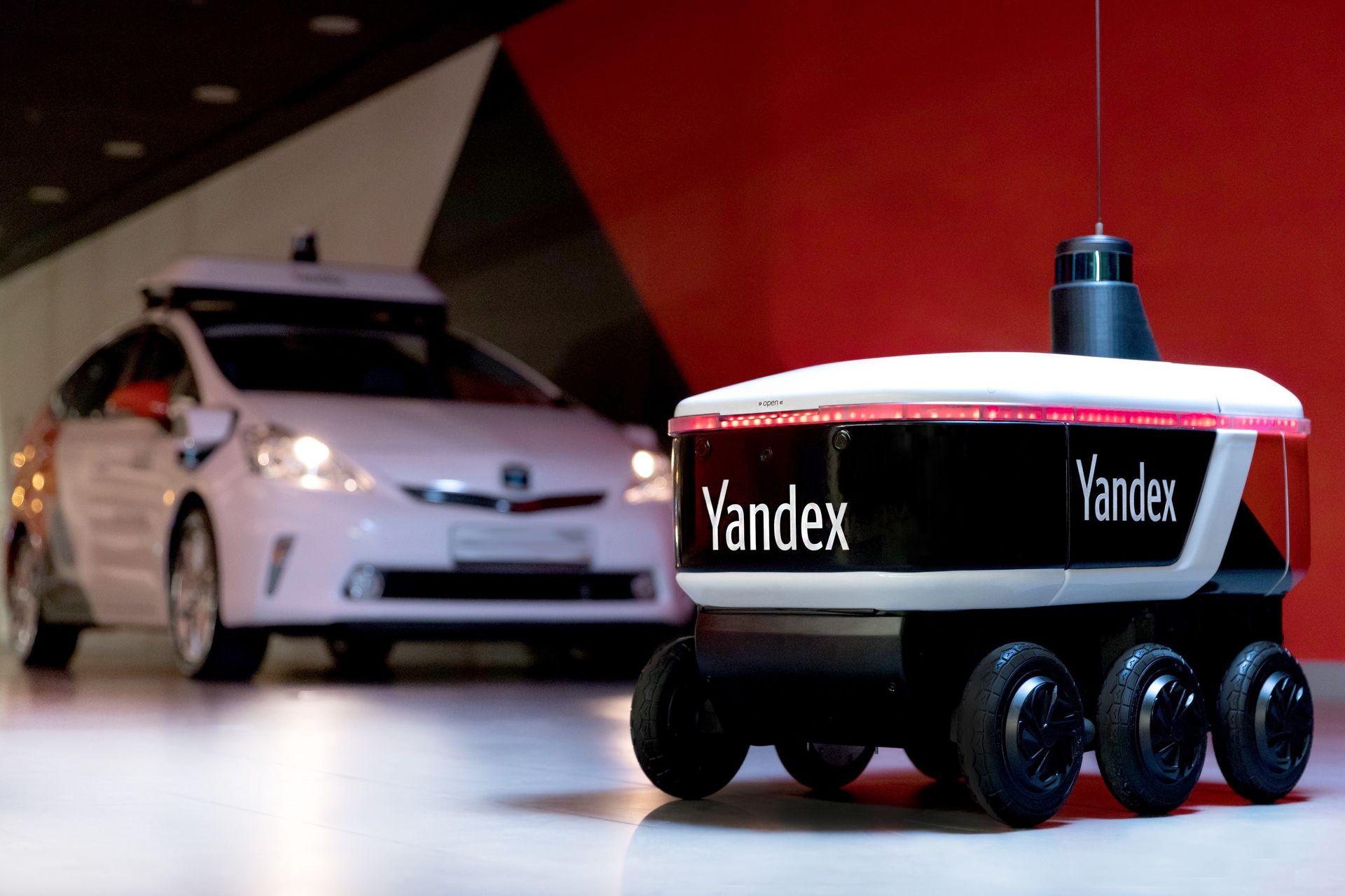 Yandex visar upp budroboten Yandex.Rover