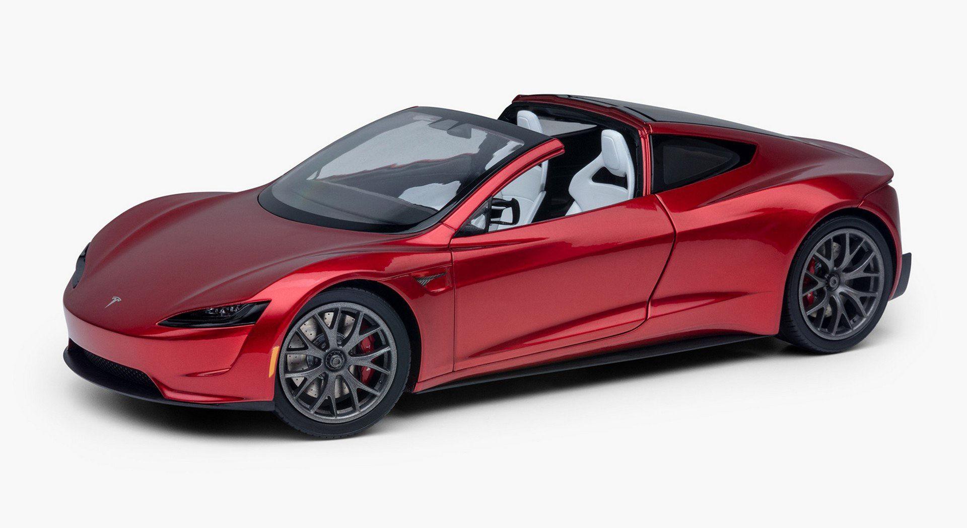 Nya Tesla Roadster som modellbil