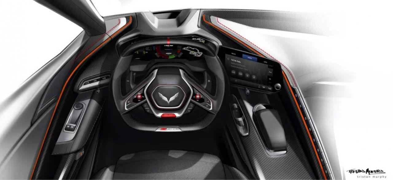 Så här kanske interiören i nästa Corvette Z06 blir