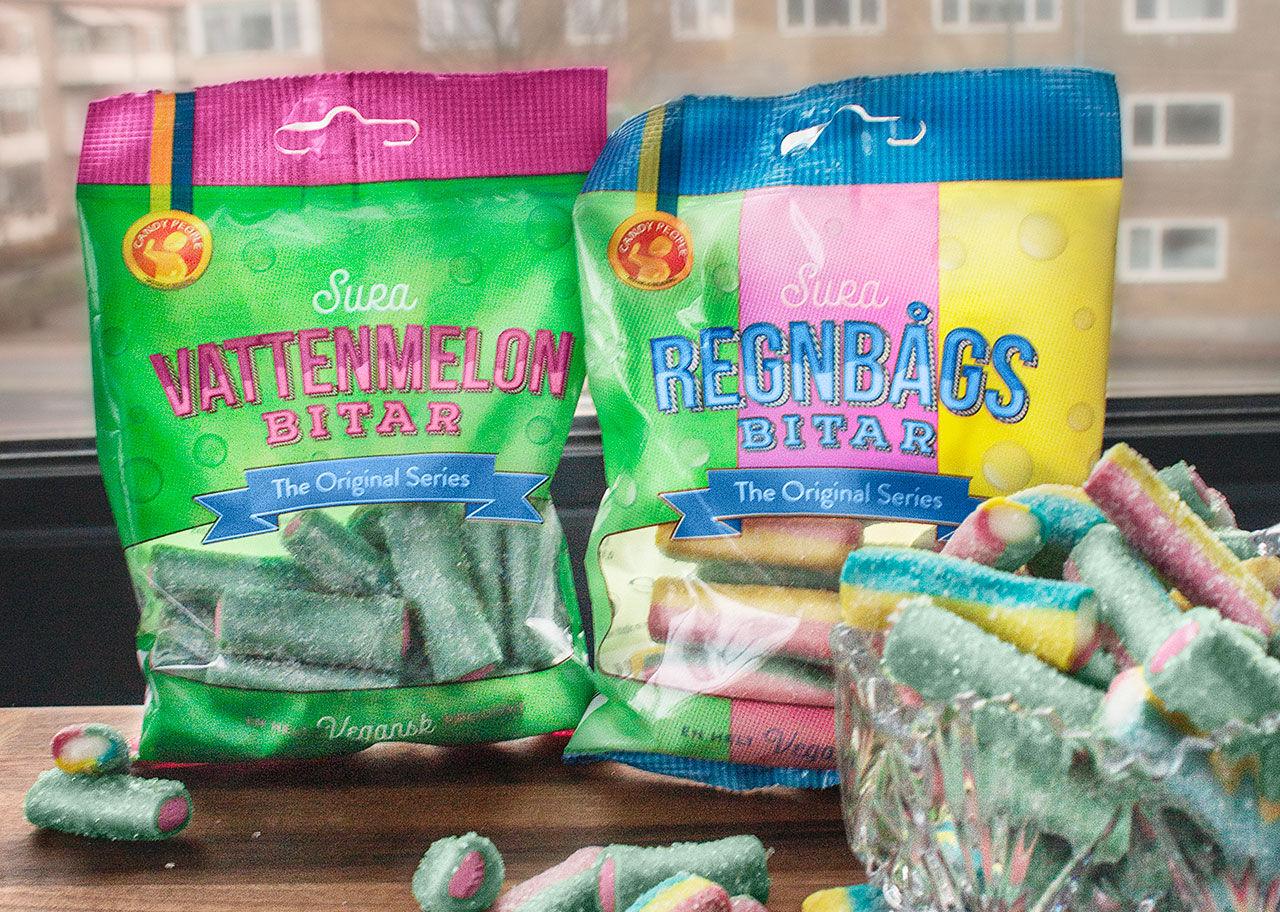 Veganska Regnbågsbitar och Vattenmelonbitar