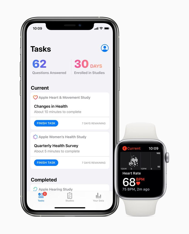 Apple släpper hälsoappen Research