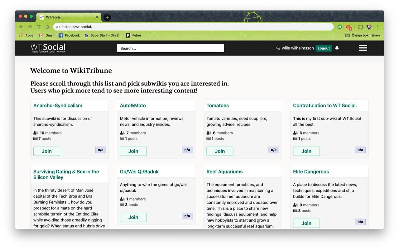 Wikipedias skapare vill bygga Facebook-konkurrent