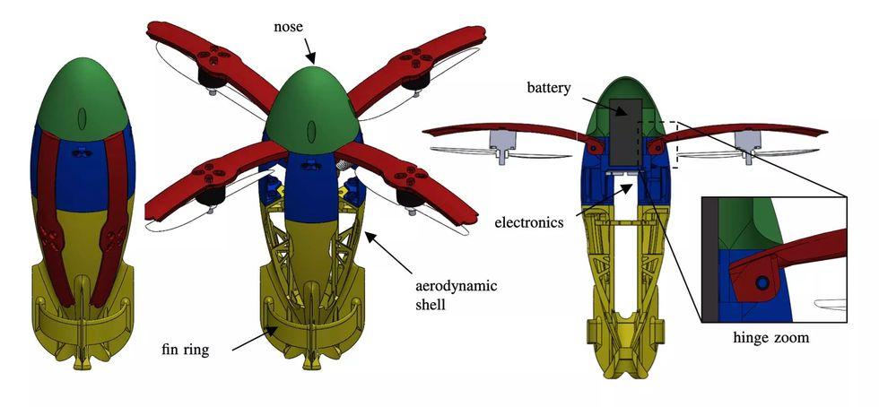 NASA och Caltech tar fram drönare som skjuts upp i luften