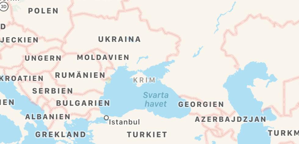 Apple böjer sig för Ryssland