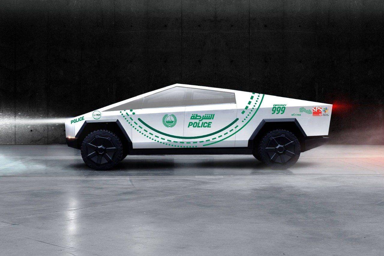 Tesla Cybertruck blir polisbil i Dubai