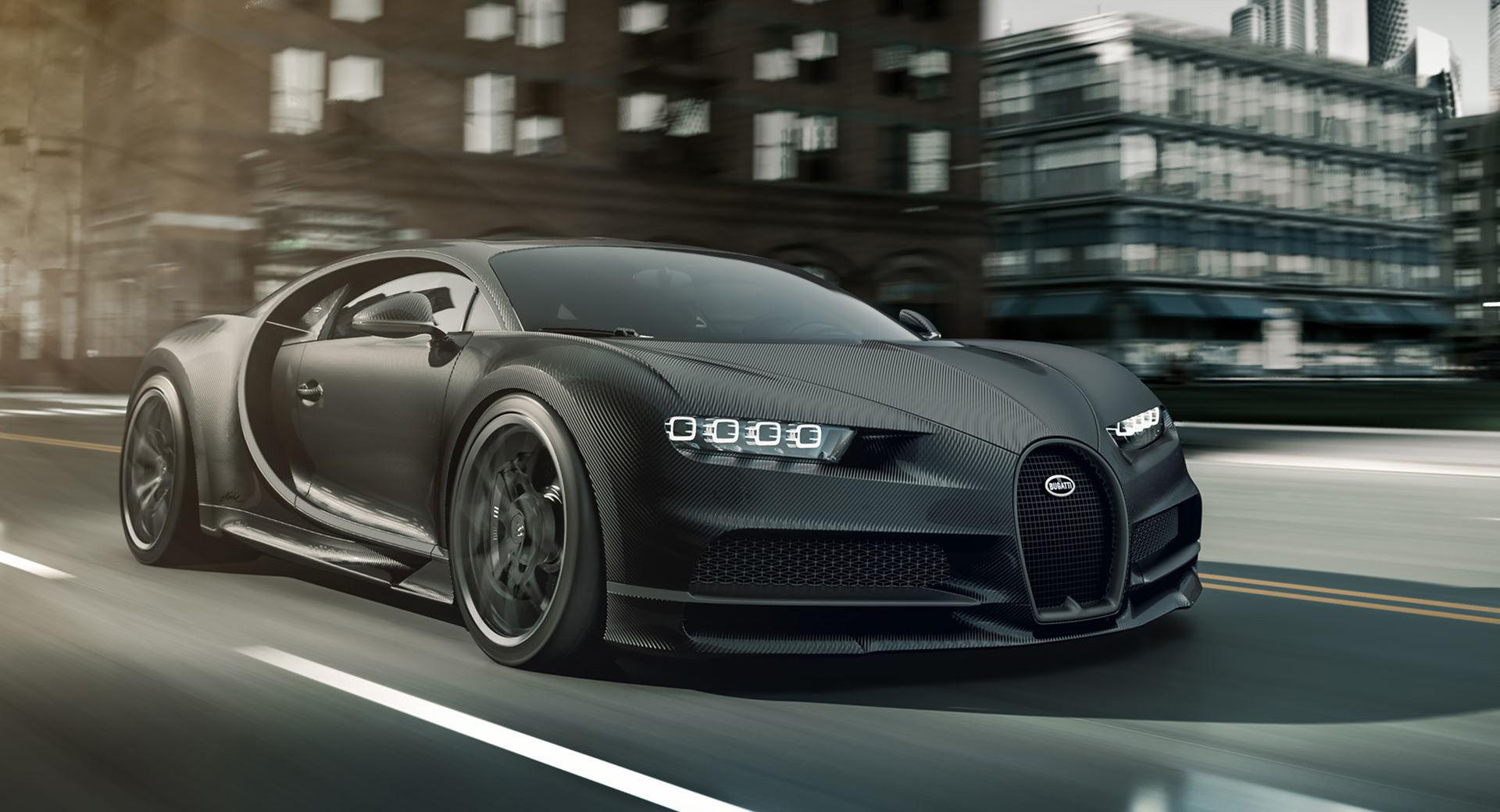 Bugatti Chiron i naken kolfiber