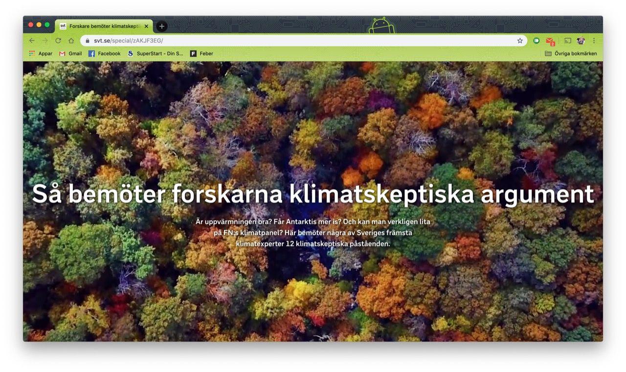 SVT lanserar sajt för klimatskeptiker