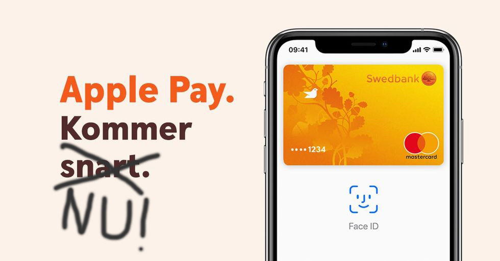 Swedbank aktiverar Apple Pay