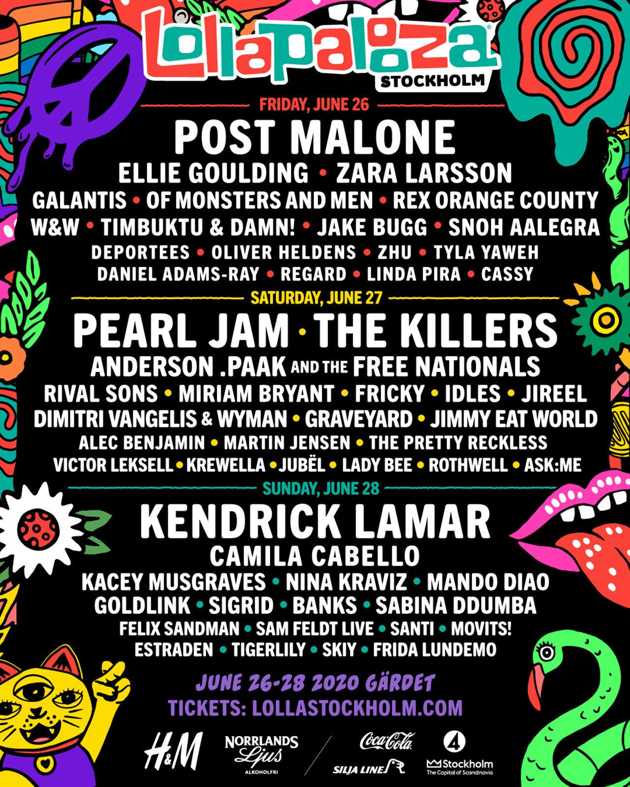 Artisterna som kommer till Lollapalooza