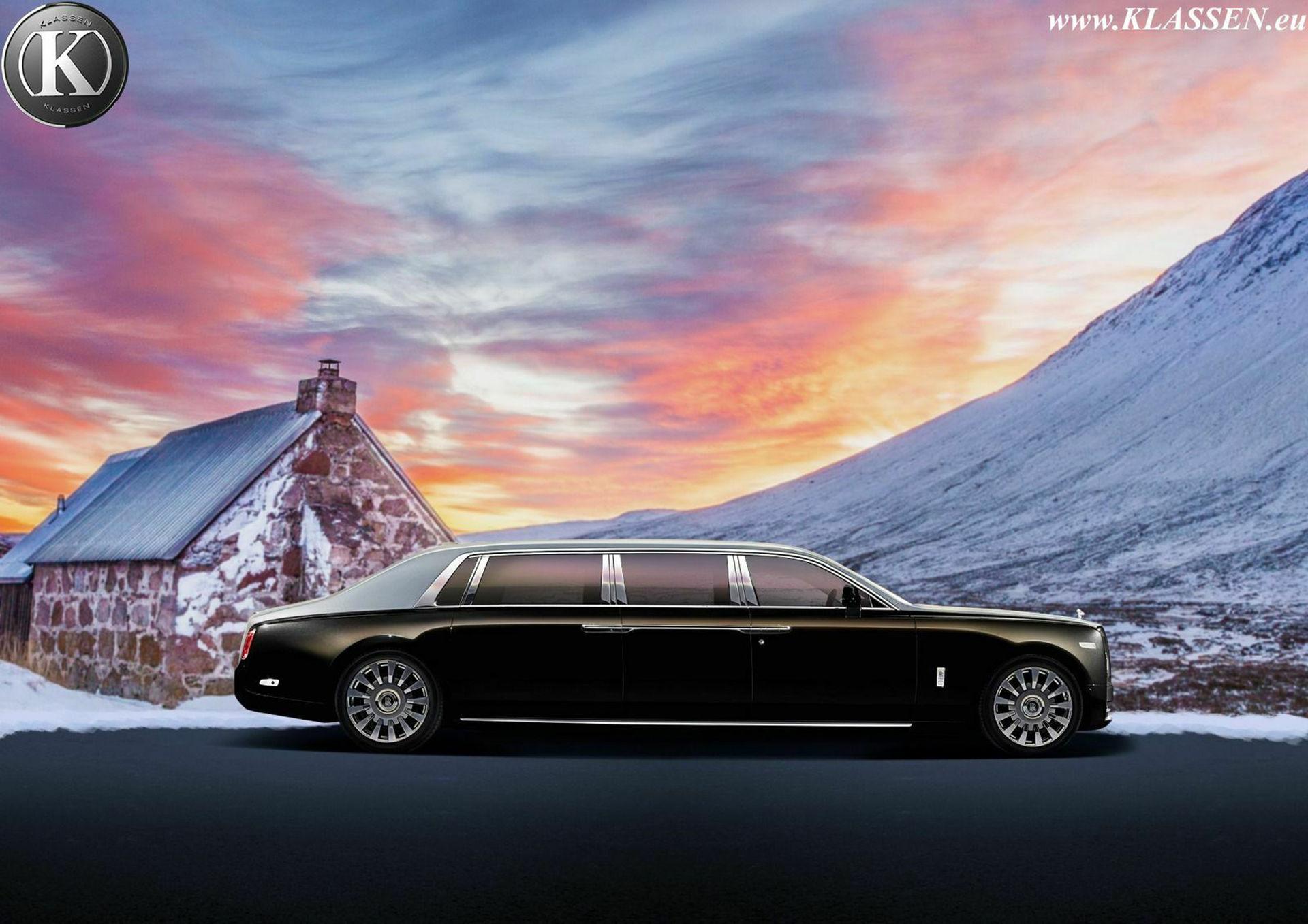 Förlängd Rolls-Royce Phantom med pansarskydd