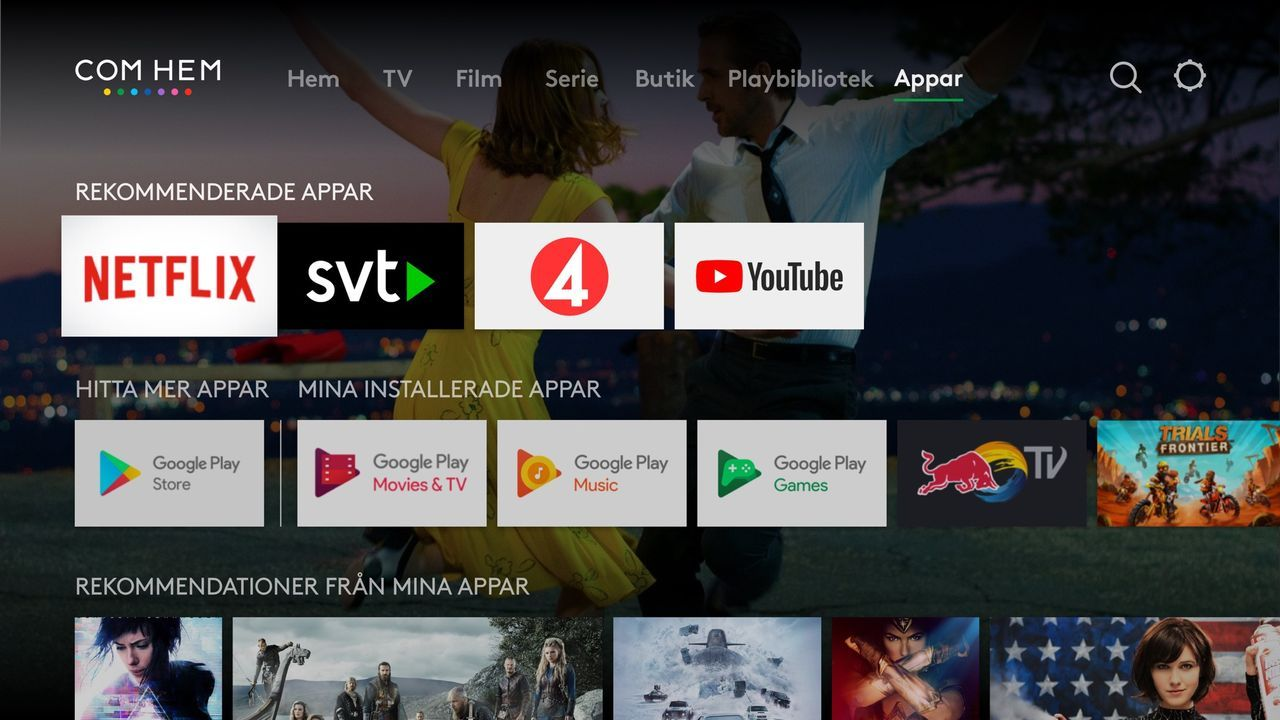 Com Hem erbjuds visa TV4 gratis