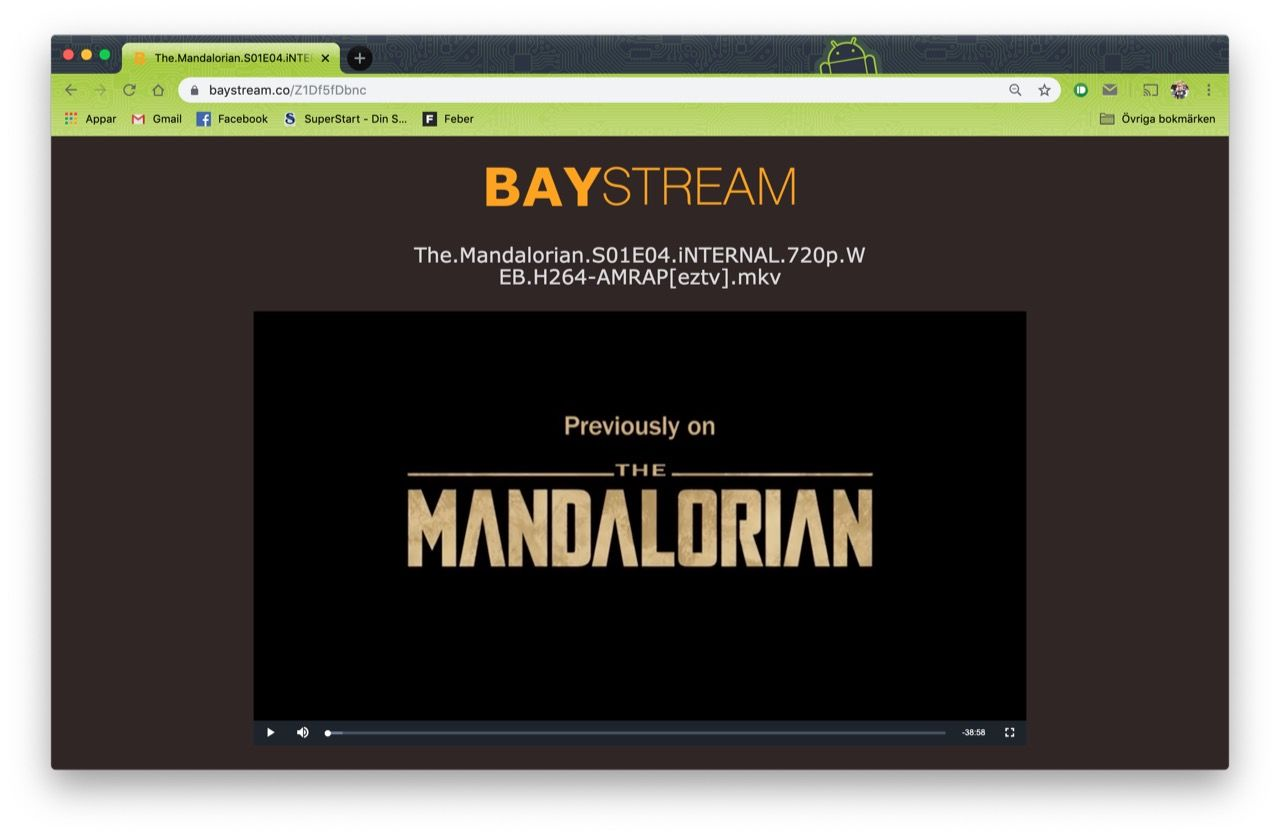 The Pirate Bay testar streaming