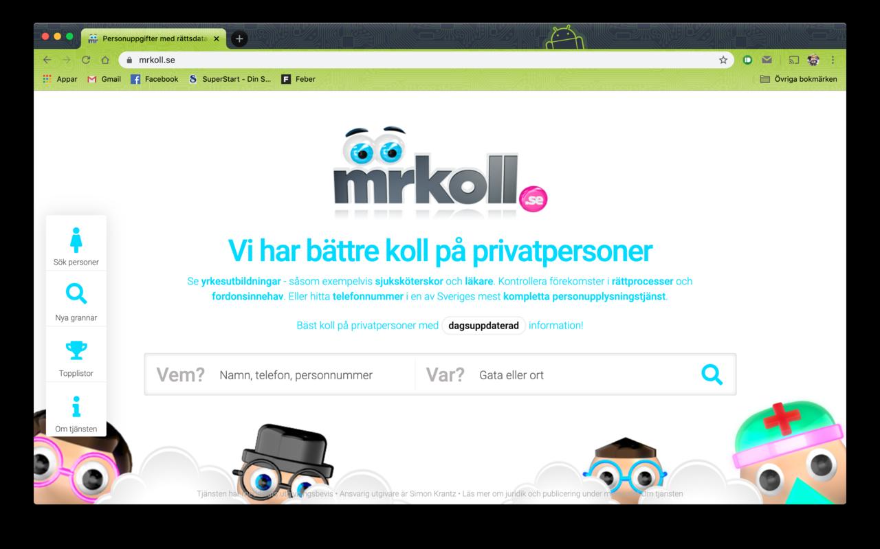 MrKoll får böter för olaglig kreditupplysning