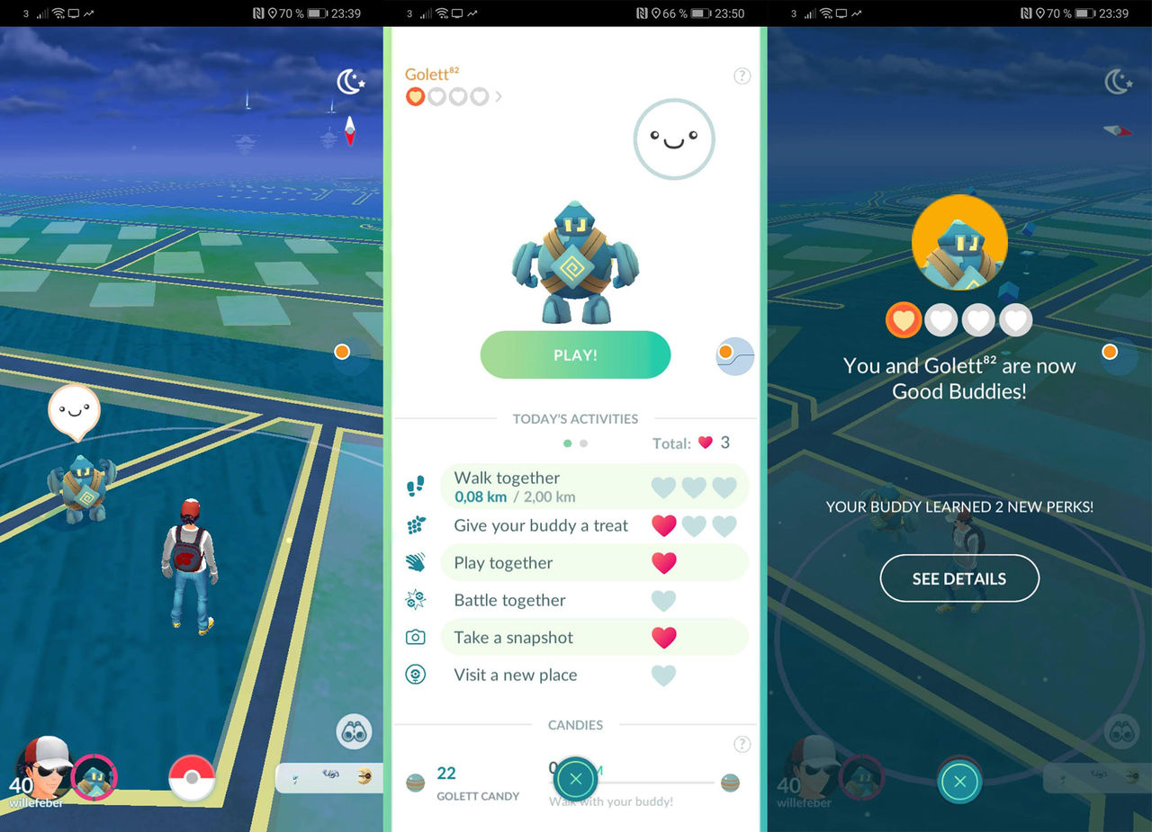 Ny buddyfunktion släppt i Pokémon Go