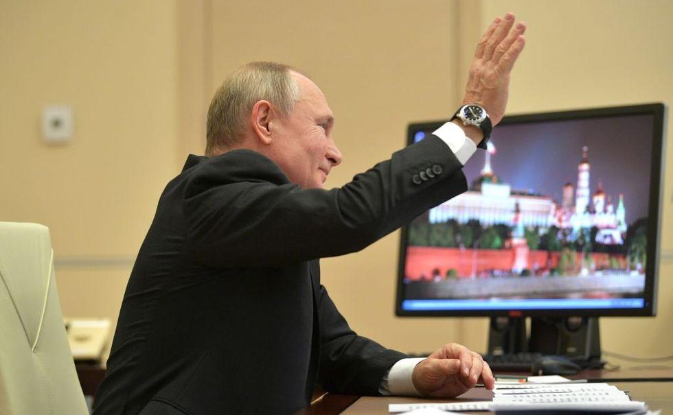Vladimir Putin verkar gilla sin Windows  XP-dator