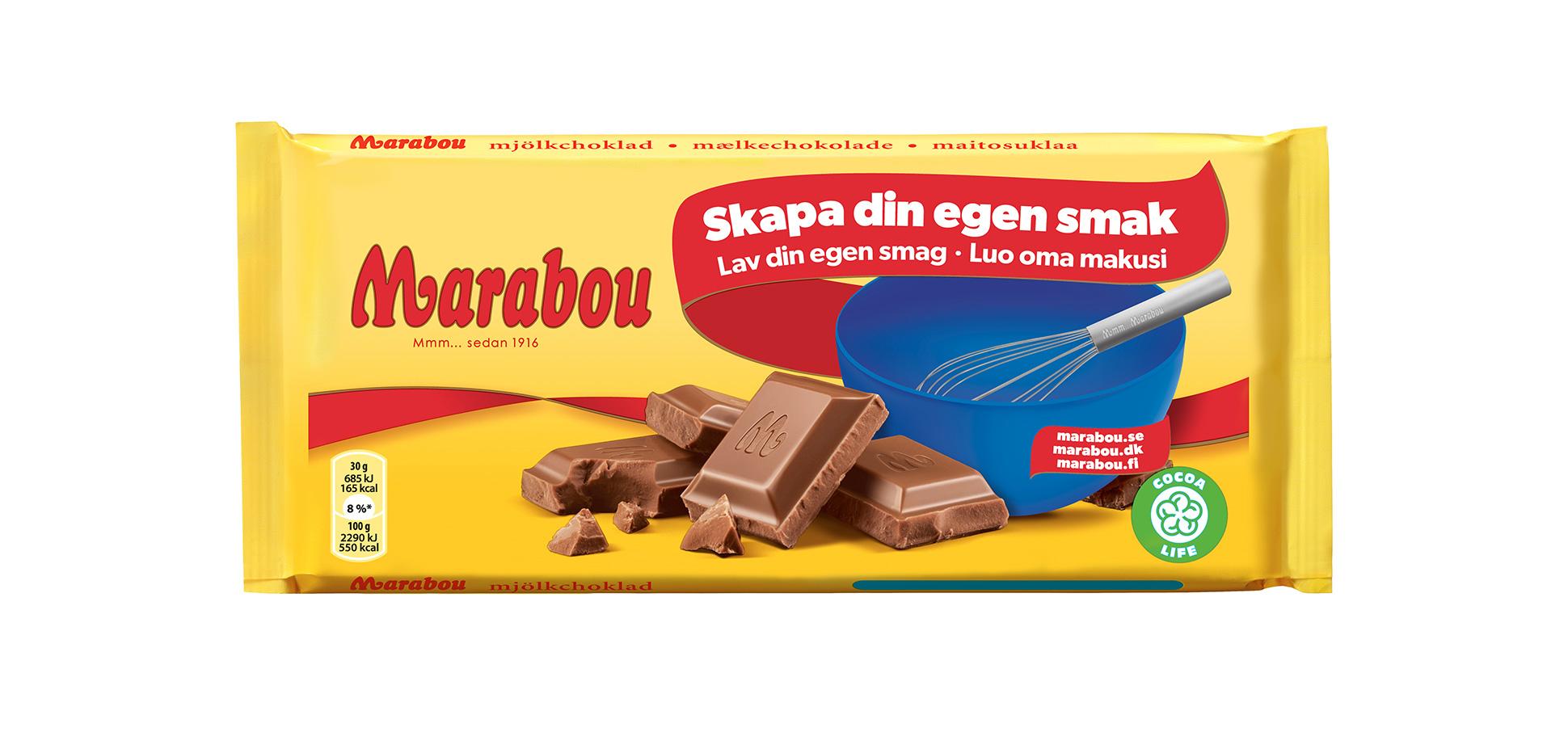 hur många kalorier innehåller marabou mjölkchoklad