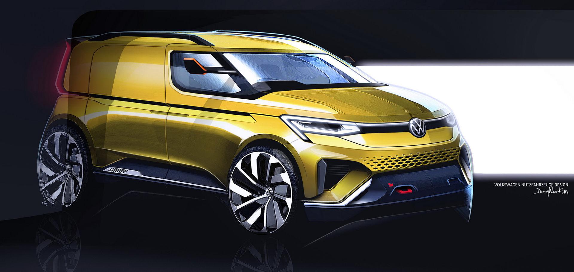 Volkswagen visar skisser på riktigt fet Caddy
