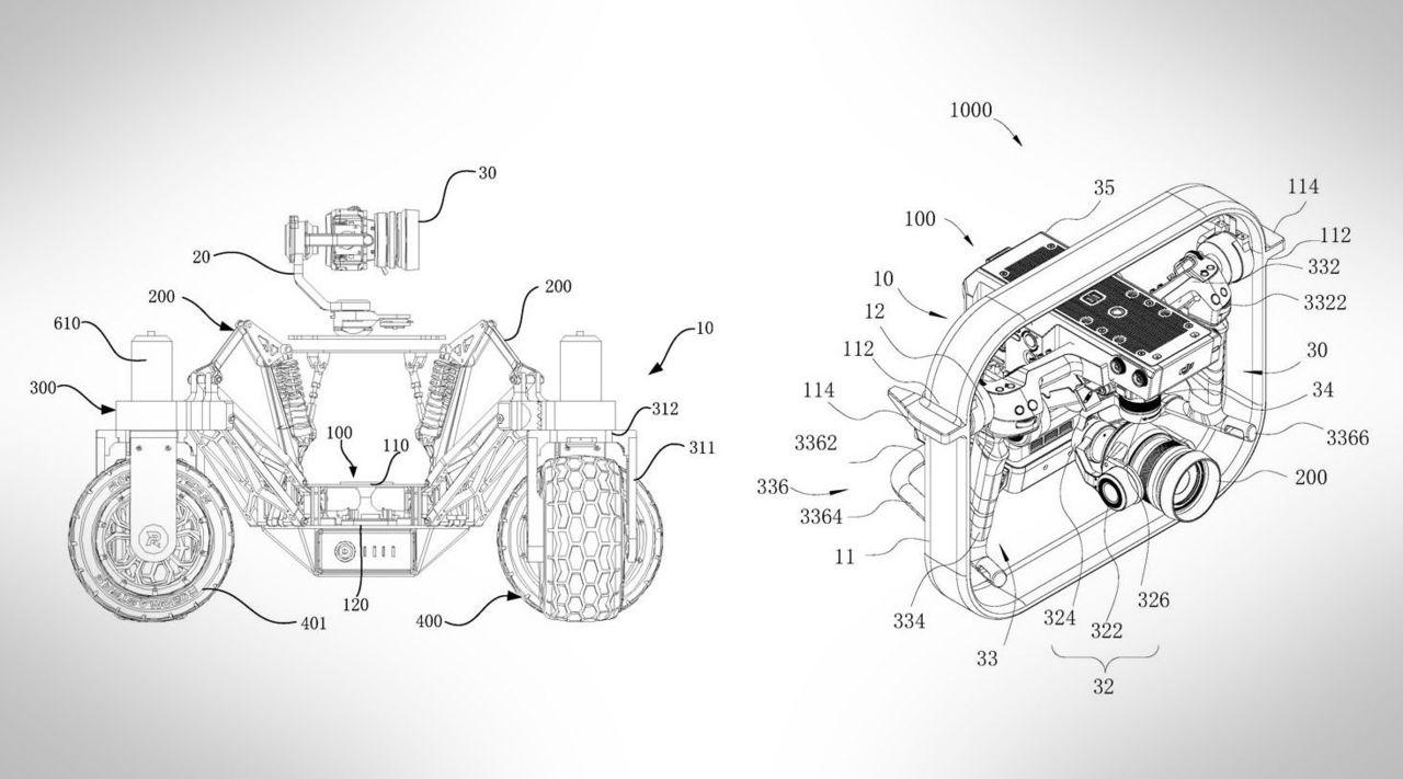 DJI tar patent på kamerabil