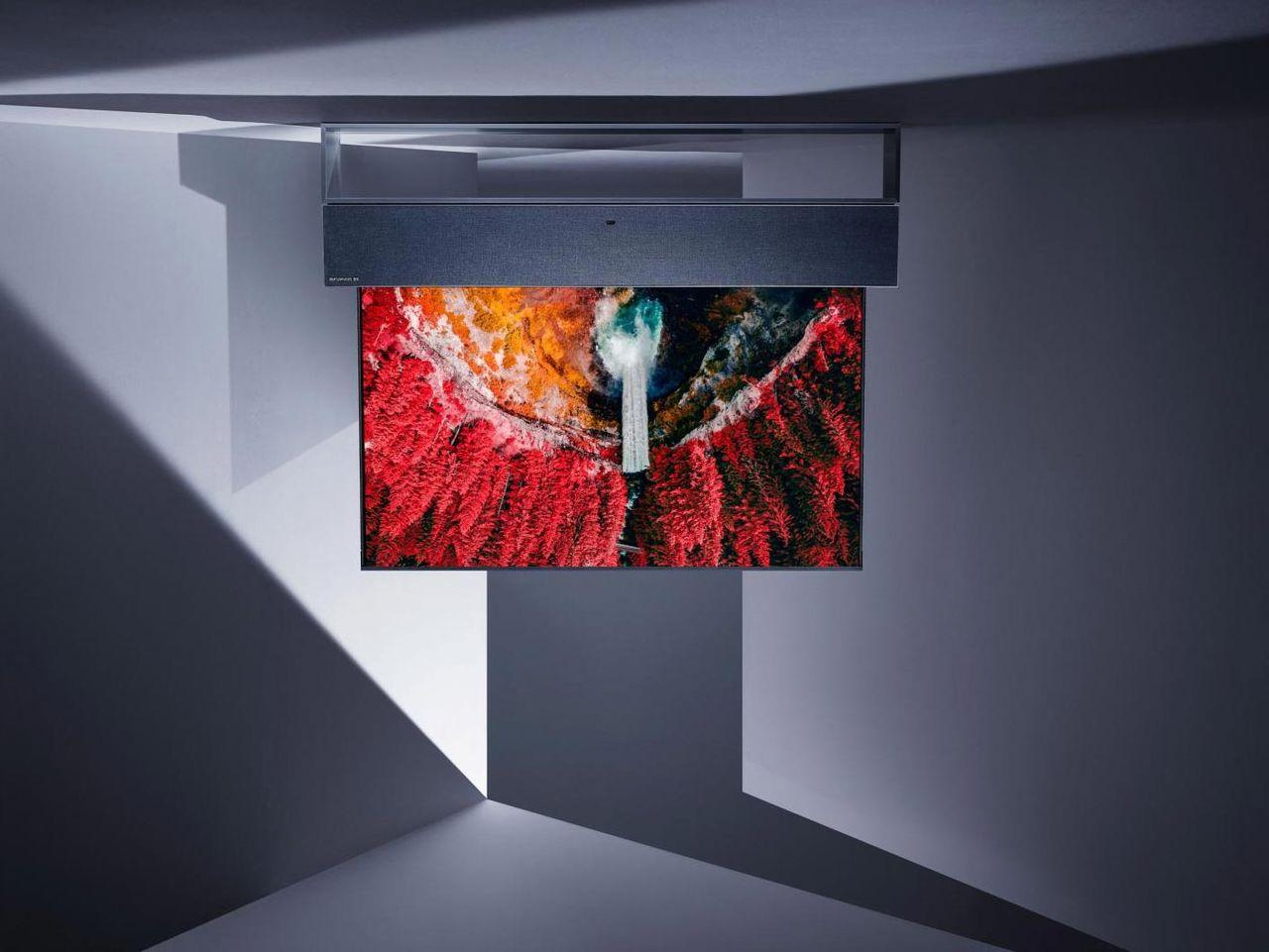 LGs nya tv rullar ner från taket