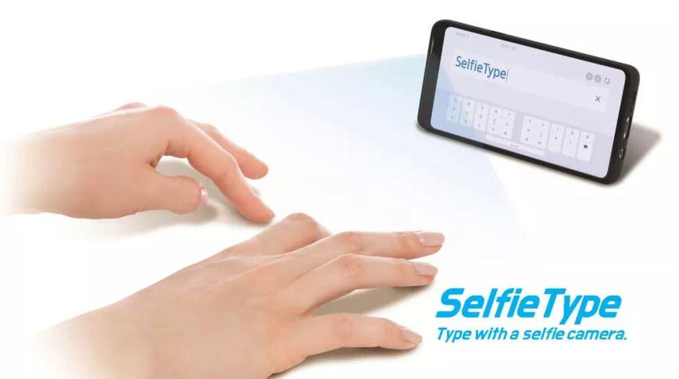 Samsung visar upp tangentbordet SelfieType
