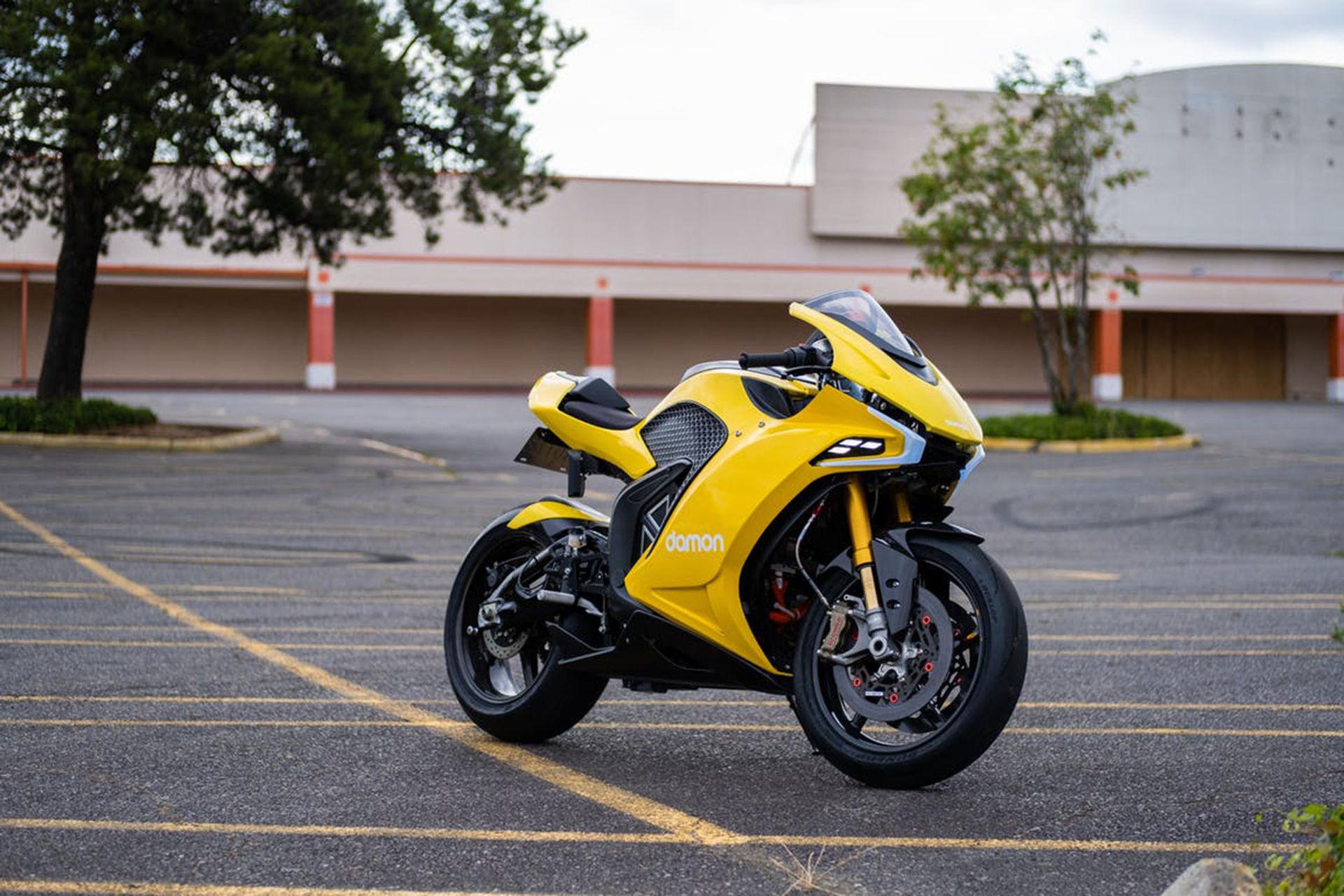 Damon Motorcycles visar eldriven sporthoj