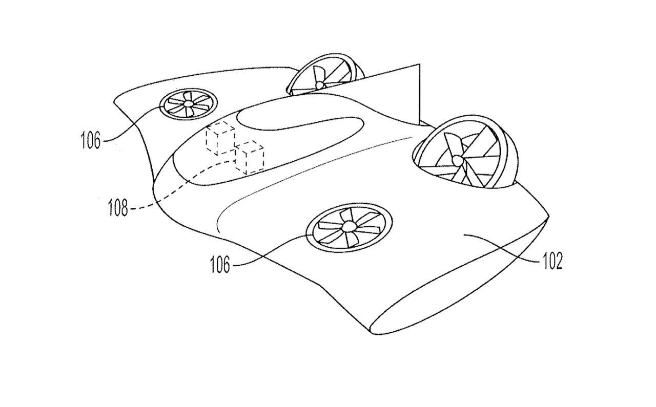 Patent visar flygande farkost från Porsche